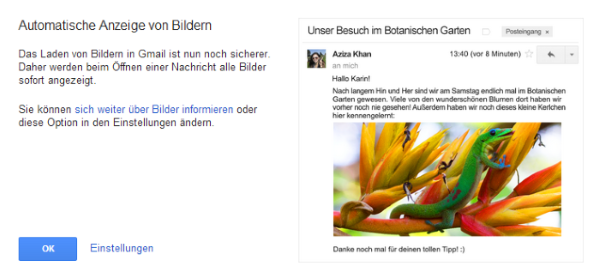 gmail Bildanzeige Screenshot