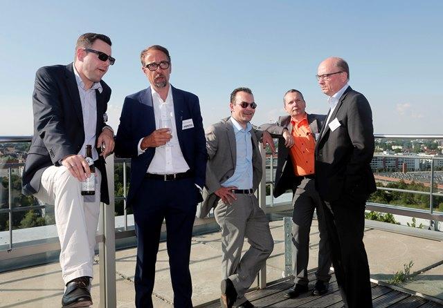 Jubliäumsfeier über den Dächern Münchens