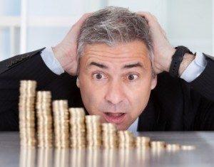 Mann mit Münzen