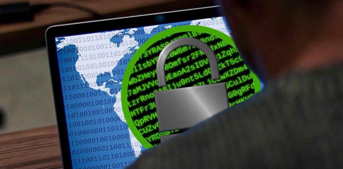 Bildschirm mit Schloss: Datensicherheit