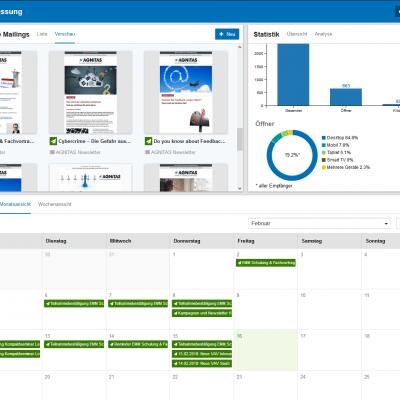 EMM Dashboard für den schnellen Einstieg in die Software