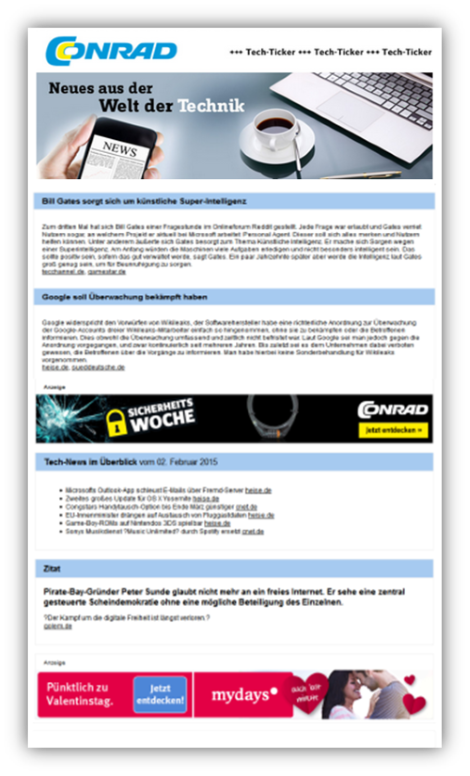 Customized Content Newsletter