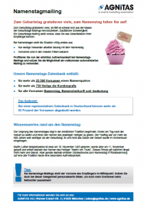Namestags-Mailing-Kampagnen