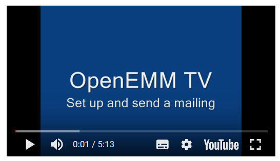 OpenEMM Tutorial: Set up a Mailing