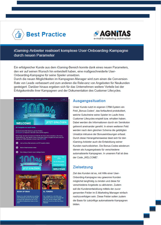 Best Practice: User-Onboarding-Kampagne für mehr Neukunden
