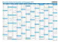 Vorschau Kampagnen Kalender 2019
