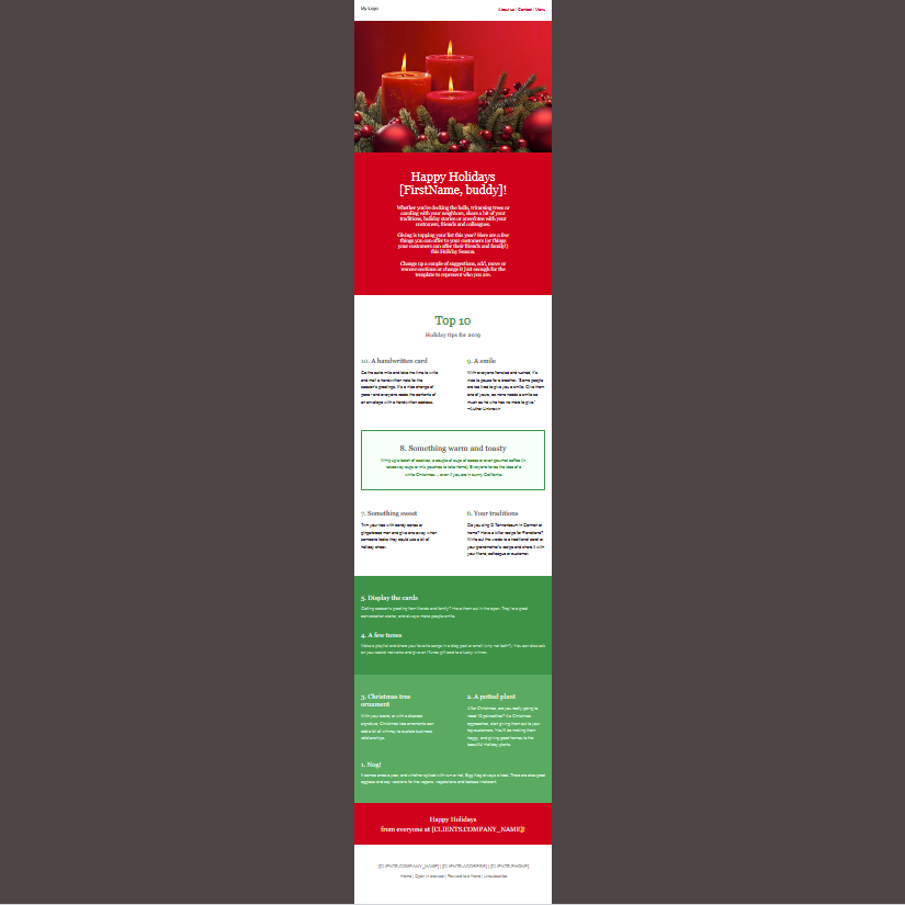 Mailing Template 2 (Standard-Methode)