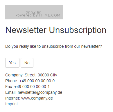 Unsubscription Step 1