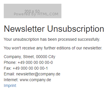 Unsubscription Step 2
