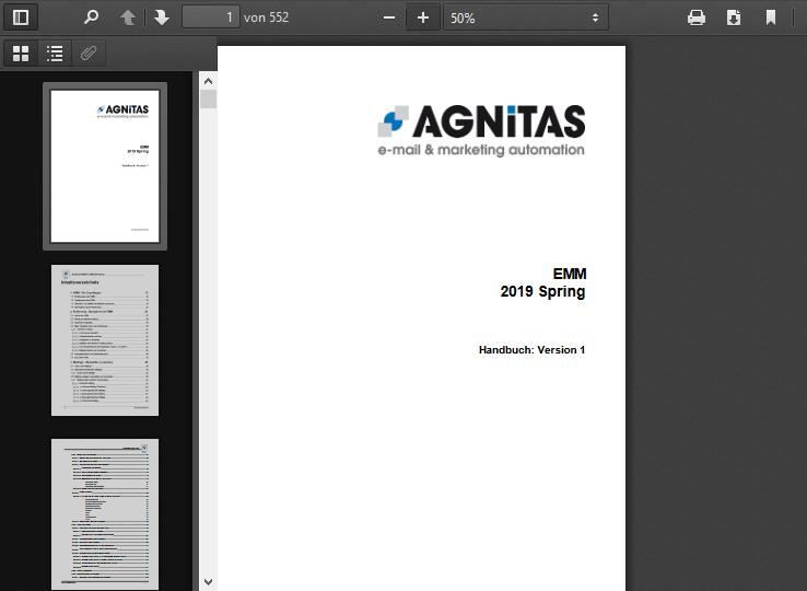 OpenEMM PDF-Handbuch