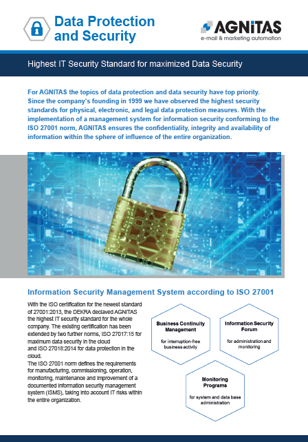 highest IT Security Standard for maximized data security