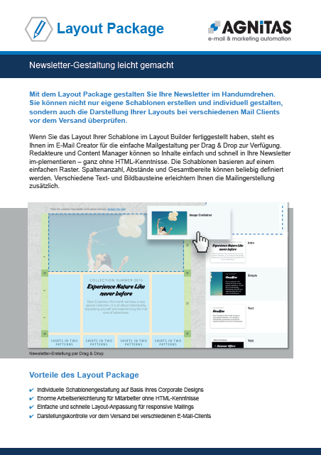 Newsletter-Gestaltung leicht gemacht mit dem Layout Package