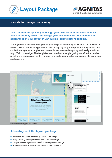 Newsletter design made easy with the Layout Package