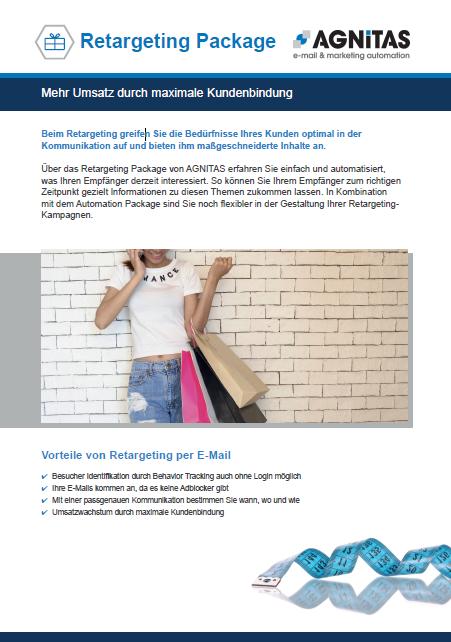 Retargeting Package für mehr Umsatz durch maximale Kundenbindung