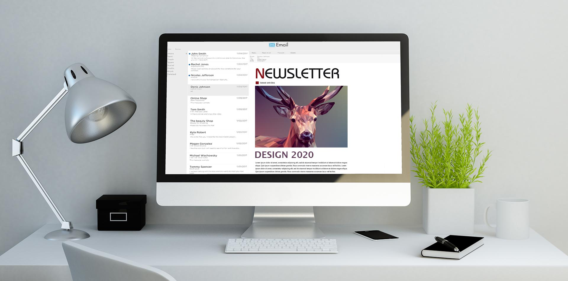 Newsletter Design 2020 - die Trends