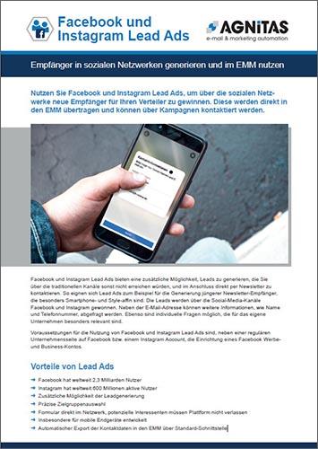 Factsheet Facebook und Instagram Lead Ads