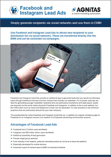 Factsheet Facebook and Instagram Lead Ads
