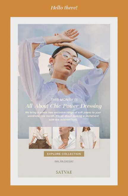 Magazinstil als Newsletter-Design, Beispiel Mansi Luthra