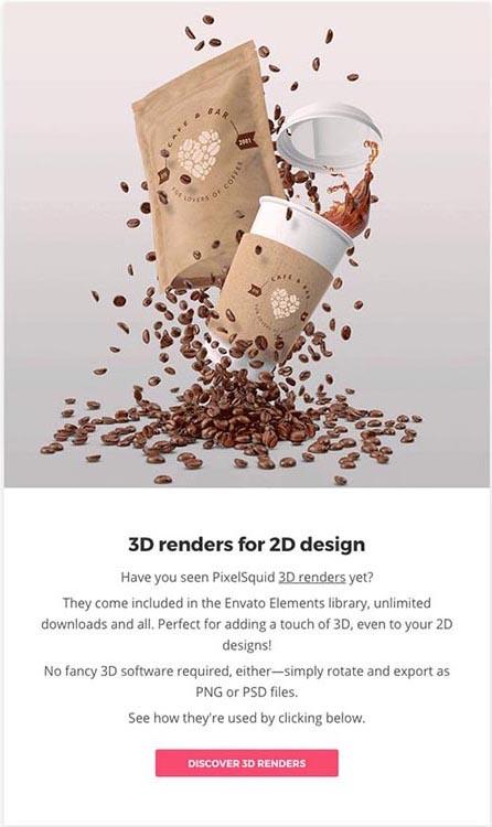 3D-Effekte, Beispiel Envato