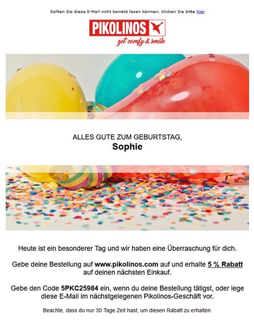 Geburtstags Mail