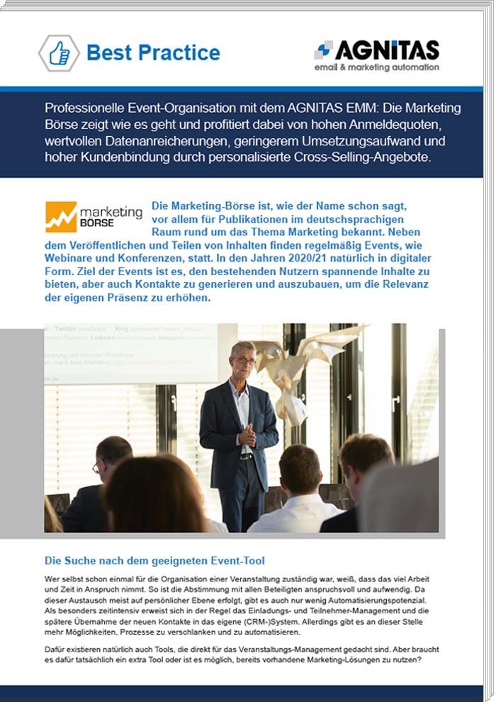 Best Practice: Marketing-Börse nutzt E-Mail-Tool für Events